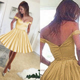 Fuchsia Pink/Yellow Junior Short Prom Dress Homecoming Gown with Belt SL1254
