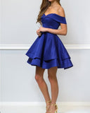 Lovely Red /Blue 8th Grade Prom Dress Short Graduation /Homecoming Gown SP6652