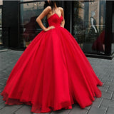 Burgundy/Red Strapless Wedding Dress Ball Gown with Sweetheart Corset