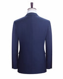 Blue Groomsmen Suit Wedding Groom Tuxedo Two Pieces (Jacket+pants)