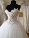 sweetheart Beading Ball Gown Princess wedding Dress