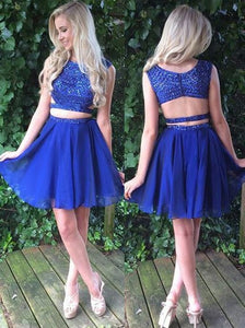 Siaoryne SP016 Short two pieces homecoming dress blue