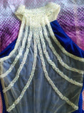 Siaoryne Sheath Prom Dress High Neck with Beading Party Gowns Long Royal Blue New LP1004