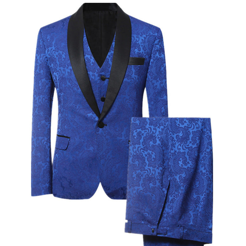 Suits For Wedding.Blue Men Suits Custom Made Slim Fit Wedding Suits For Groom Prince Of Wales Windowpane Suit 3 Pieces