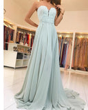 Sweetheart Elegant Lace and Chiffon Backless Prom Dress Long 2019 PL547