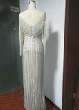 Sparkle Luxury Evening Dress Heavy Beading Formal Party Dress PL687
