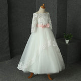 Lovely Lace Off Shoulder Baby Flower Girl Dress Child Little Girl Communion Dress robe fille enfant mariage de soiree