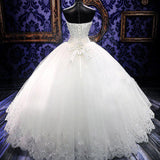Siaoryne Ball Gown Wedding Dresses Princess Bridal gowns with Lace Appliqued