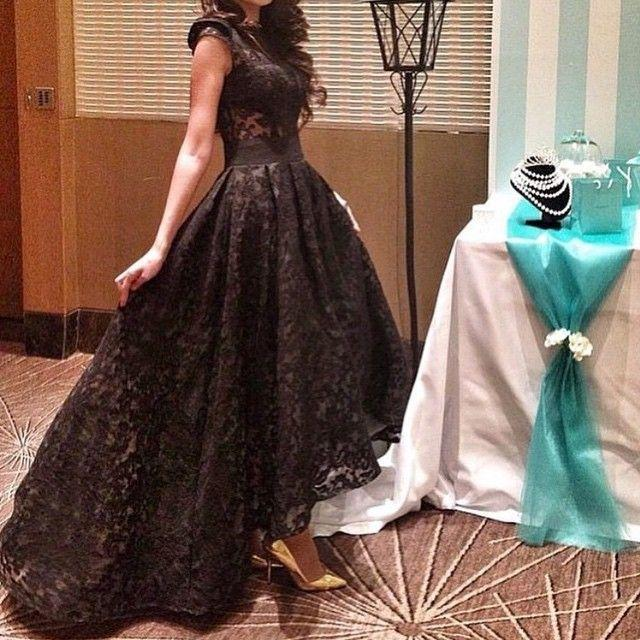 4d488f75219 ... Siaoryne LP0830 Boat Neck Lace Prom Dress High Low Front short Long Back  New Girls Party ...