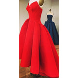 Siaoryne LP0830 Sweetheart High Low Satin A Line Prom Dresses Red