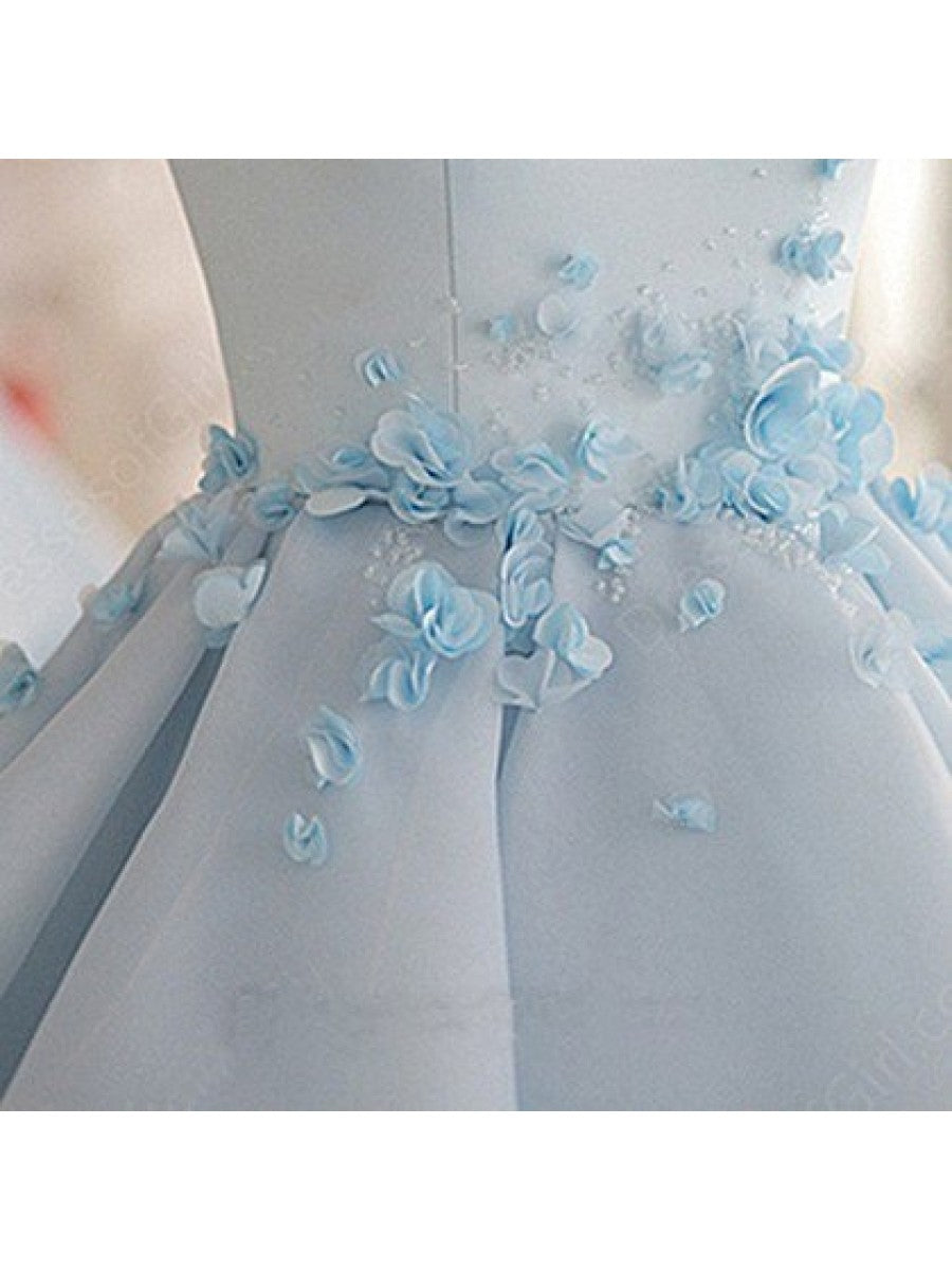 SP1447 Sky Blue Poofy Ball Gown Short Prom Dress Homecoming Dresses ...