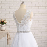 High Low Wedding Dresses Lace Beach Bridal Gown PL547