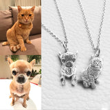 Private Custom Provide Photo Customization JEWELS 925 Sterling Silver DIY Dog Pedant Necklaces Pet Charm Silver Necklace Jewelry LP0523