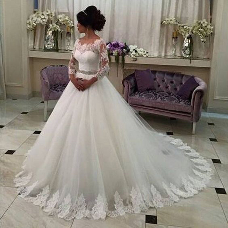 Siaoryne WD0930 Vintage Wedding Dresses Lace 2018 New Long