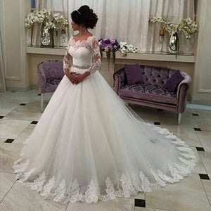 Siaoryne WD0930 Vintage Wedding Dresses Lace 2018 New Long sleeves Bridal Dresses