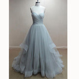 Elegant Tulle Sweetheart Ruched A Line Prom Dresses 2018 Formal Wear Vestido