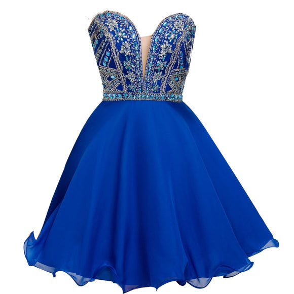 Siaoryne SP0829 Short Beading Sweetheart Homecoming Dresses short evening party gowns