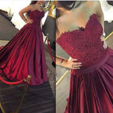LP1545 New Burgundy Ball Gown Prom dress 2018 Formal Gown Sexy Backless robe de bal