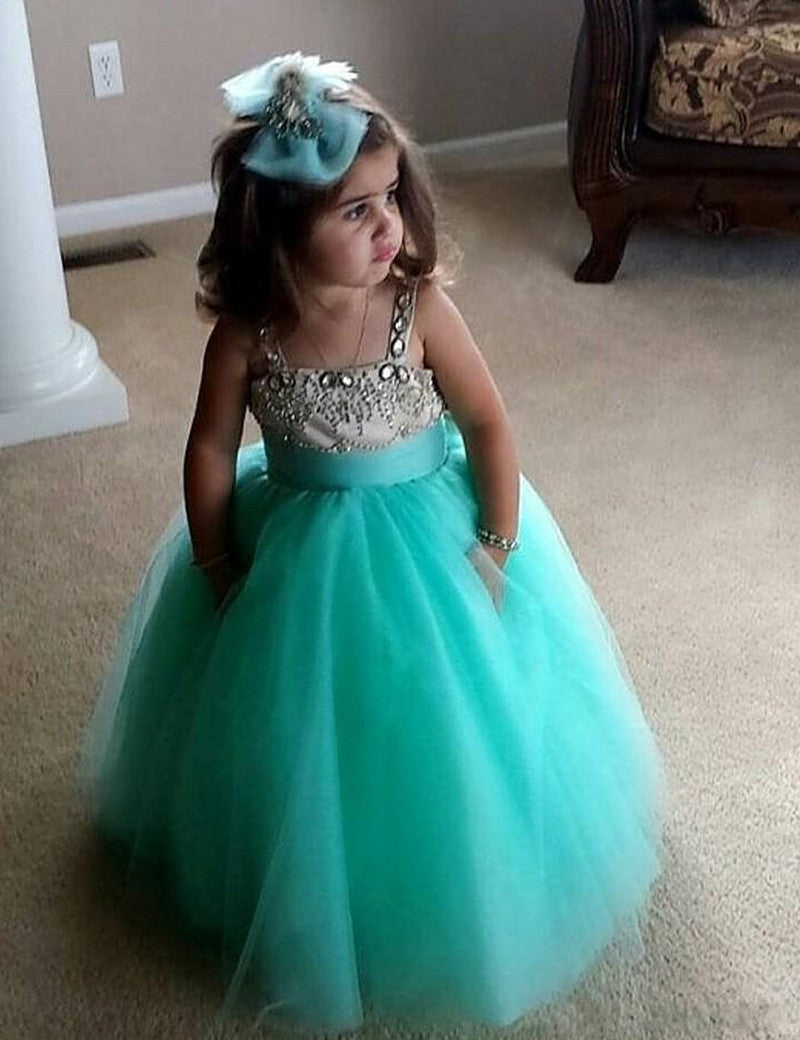 Siaoryne Little Baby girl flower girl dress wedding party dress toddle