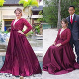 Sexy A Line Burgundy V Neck Prom Dresses Lace Women Formal Evening Gown party Outfits