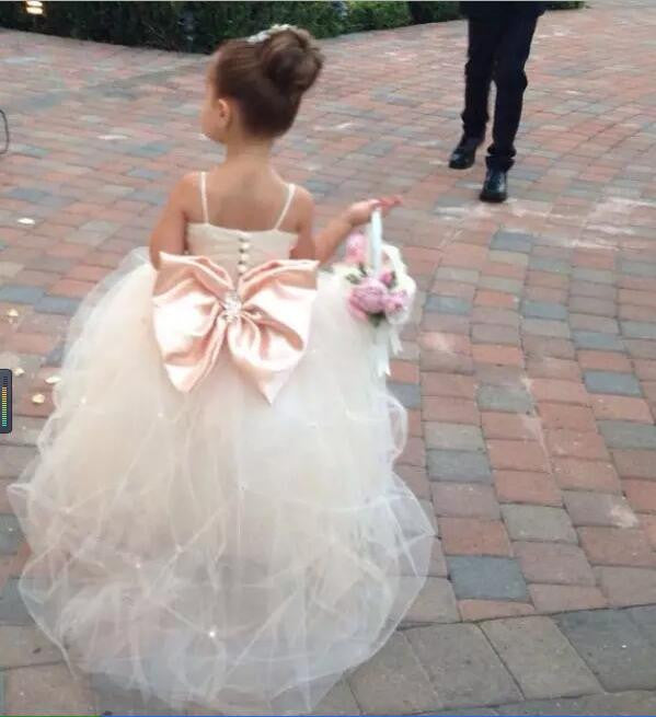 Siaoryne Baby Girl Ball Gown Flower Girl Dresses Wedding Party Gowns f