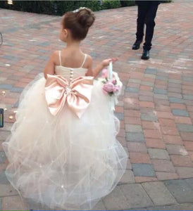 Siaoryne Baby Girl Ball Gown Flower Girl Dresses Wedding Party Gowns for child