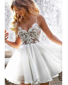 Beautiful  Spaghetti Straps Short Prom Junior Girls Homecoming Gown Gradaution Dress Short SP05271