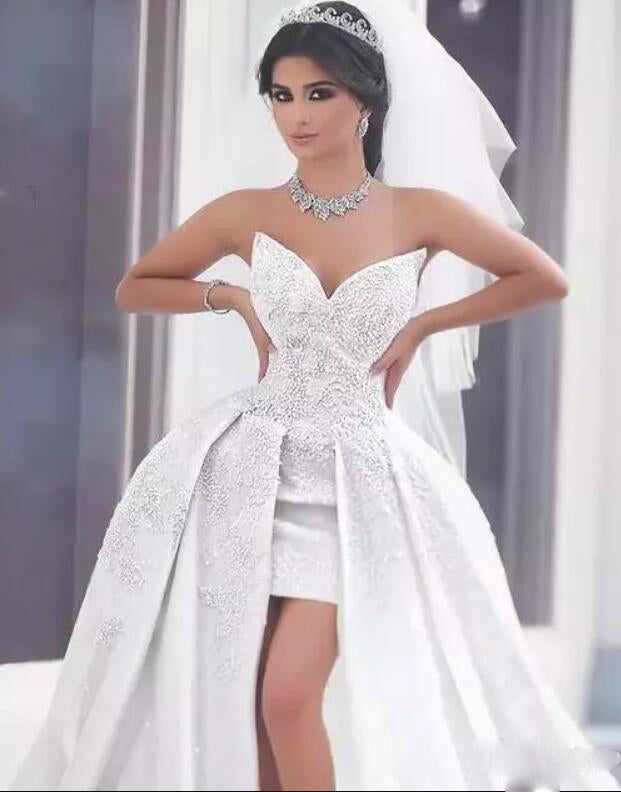 2da0c1b7c1 ... sweetheart Sexy High Low Lace Wedding dress A Line Front Short Long  Back Bridal Gowns Roabe ...