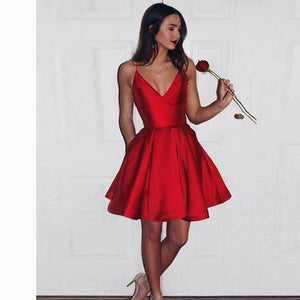 99bf87f48375 Red Short Graduation Dress 8th Grade Prom Gown Semi Formal Gown for Teens  Girls
