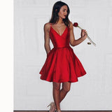 Red Short Graduation Dress 8th Grade Prom Gown Semi Formal Gown for Teens Girls SP0510