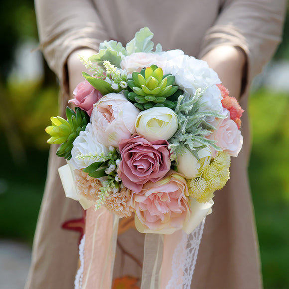 Wedding Flowers Garden Bouquet Home Decor Flowers Bridesmaid Bouquets Roses Hydrangea Wedding Bouquet