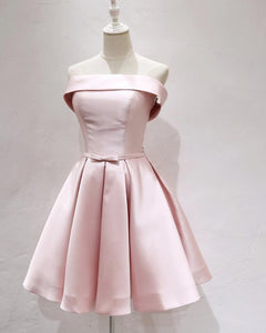 Pink Strapless Short Homecoming Dresses Girls Mini semi Formal Graduation Prom Gown
