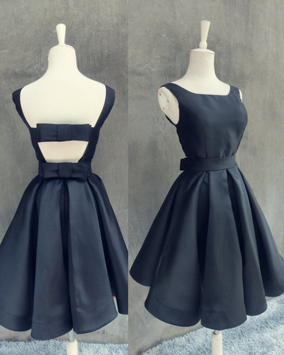 Navy Homecoming Dress Short Party Dress Girls 8th Grade Graduation Gown