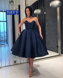 Burgundy /Blue Sweetheart Knee Length Short Evening Dress Girls Homecoming Prom Gown SP6612