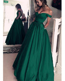 Classy Dark Green Prom Dress Long Senior Girls Graduation Formal Party Wear LP4411