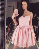 Sweetheart Pink Short Homecoming Dresses Short Party Prom Gowns Vestido De Festa Curto