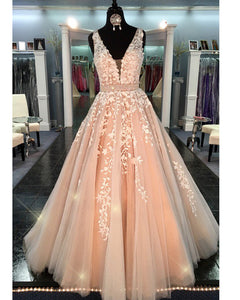 Gorgeous A Line Girls Party Lace Prom Long Dress Formal Wear