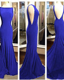 Wine Red Boat Neck Fitted Long Party Prom Dress PL1102