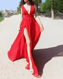 Red/Burgundy Women Evening Party Dresses Long Prom Gown PL214