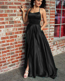 Dark Green halter Party Dresses Formal Girls Graduation Prom Gown Long PL324