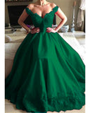 Off the Shoulder Red Women Formal Gown Lace Prom Dresses With Beading PL362