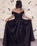 Cheap Black party Prom Dress 2020 Vestido De Festa off the shoulder Gown PL214