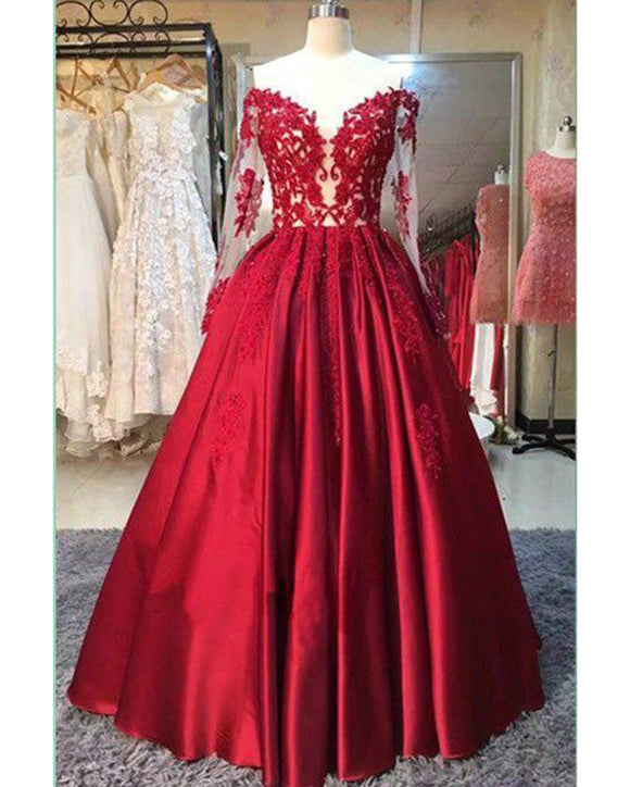 Burgundy Red Wedding Engagement Dresses Women Long Evening Gown PL665