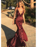 Sexy V Neck Halter Mermaid Evening Dresses  Long Formal Women Party Gown