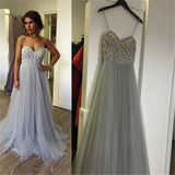 Siaoryne spaghetti straps long pom dress 2018 long formal gowns