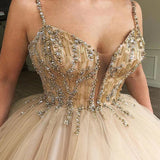 Siaoryne 2020 New Champagne Ball Gown Women  Gala Dresses with Straps PL660
