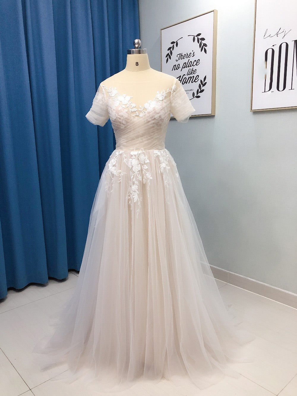 Wd0518 Vintage Simple Elegant Lace Floral Boho Wedding Gown With Short Siaoryne,Formal Dresses For Wedding Guest Plus Size
