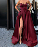 Siaoryne Sweetheart High Slit Leg Women Sexy Long Evening Gown Formal Wear Dress 2020 Vestido De Festa Longo