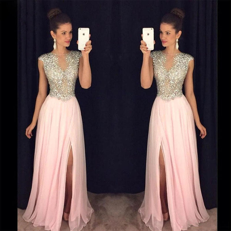 Line Chiffon Prom Formal Dresses Women