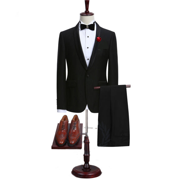LP5510 Custom made wedding suits 2 pieces Men suits Slim fit Notched lapel Grooms wedding suits Tuxedos  (jacket+pants)